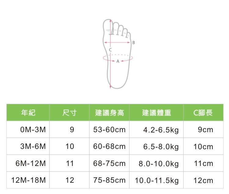 勾針鞋尺寸