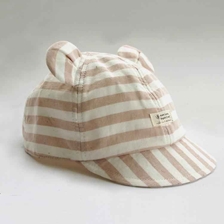 有機棉柔紗熊耳棒球帽